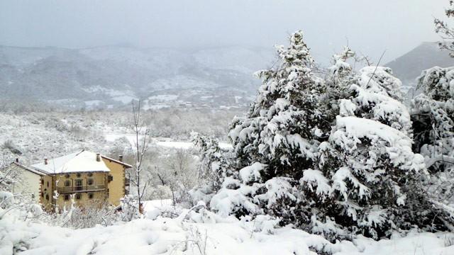 nieve en Saragüeta